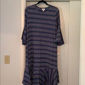 Lularoe striped Maurine dress